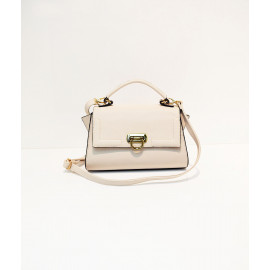 Cream color mini satchel