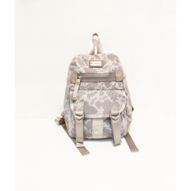 Reflective print nylon mini backpack