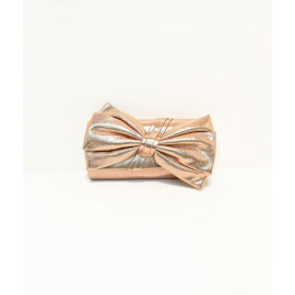 Metallic ribbon evening bag
