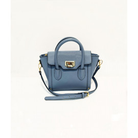 Buckle flap small shoulder bag
